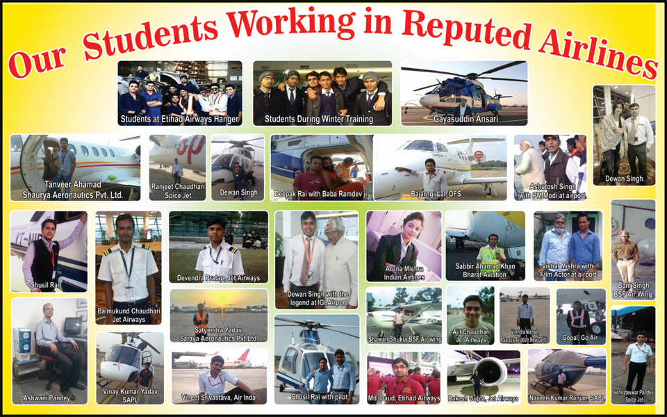 Students Working in reputed Airlines